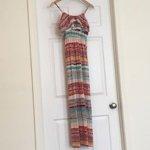 Maxi dress multi-color snake-print